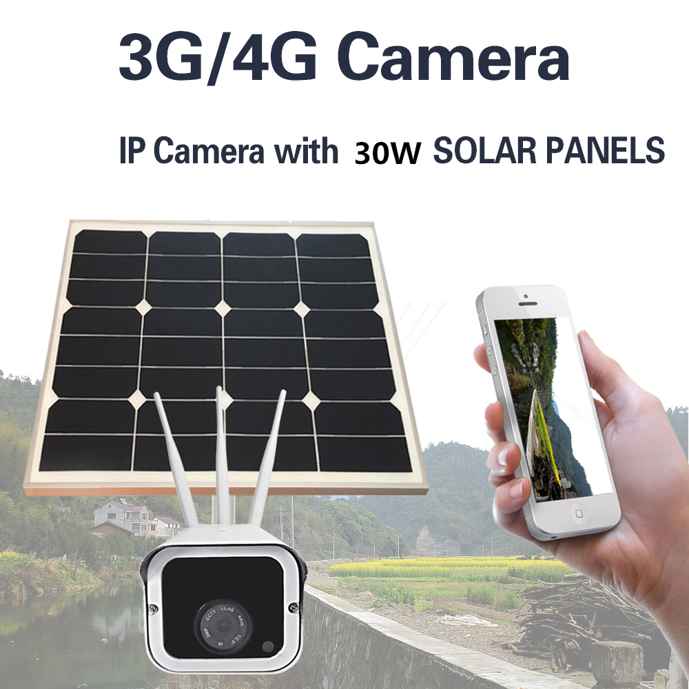 Image 3 - 30W Solar Power Panel Battery Security 1080P CCTV Surveillance Outdoor IP Camera Onvif Wireless Wi fi 3G4G SIM Free 16GB SD Card-in Surveillance Cameras from Security & Protection