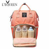 Authentic LAND Mommy Diaper Bags Mother Large Capacity Travel Nappy Backpacks with anti loss zipper Baby Nursing Bags dropship