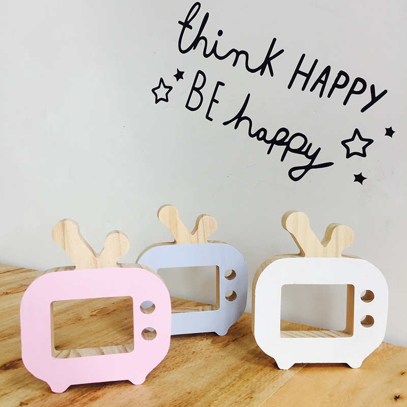 Hot Sale Original pine wooden TV Decoration for baby room decal thing baby room cute decorative hanging decorations home decor