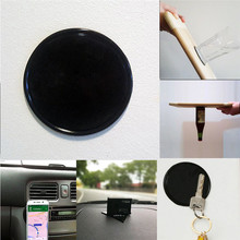 1Pcs Rround Magical Tablet Phone Bracket Anti-slip Mat Car Mobile Phone Holder Anti-slip Mat Sticky Gel Pad Wall Sticker