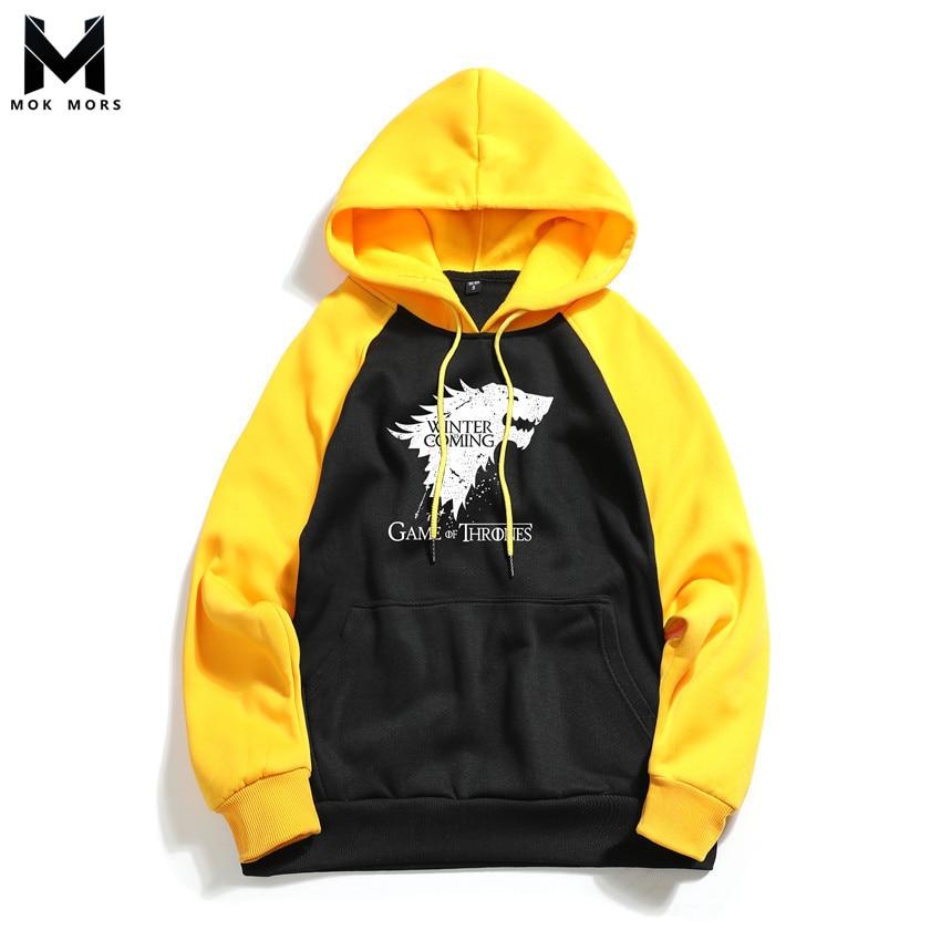 Men Hoodies Sweatshirts Sportswear Long-Sleeve Print High-Street Personalized Business
