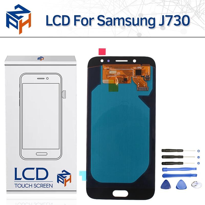 5.5 Super AMOLED LCD pour Samsung Galaxy J7 Pro J730 2017 SM-J730F LCD Affichage à l'écran Tactile Digitizer Assemblée Remplacement + outil