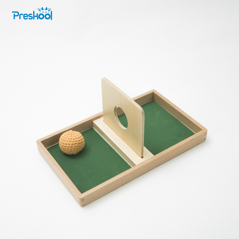 Montessori Kids Baby Toy Imbucare Board With Knit Ball Wood Learning Educational Preschool Training Brinquedos Juguets montessori kids toy baby set of beads materials preschool brinquedos juguets
