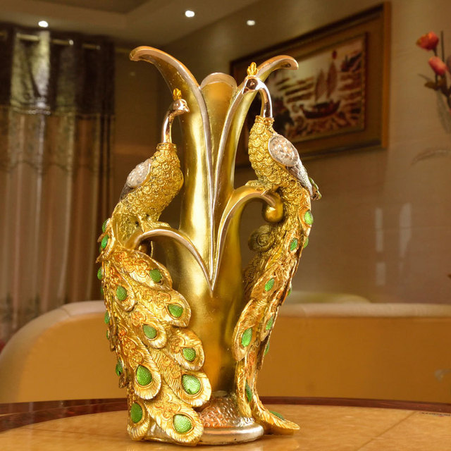 Peacock Home Decor: Unique Delicate Home Decor Resin Crafts, Exquisite Gift
