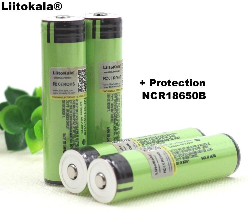 Liitokala New Protected Original Rechargeable battery 18650 NCR18650B 3400mah with PCB 3.7V For Panasonic Flashlight batteries t makhacheva makhacheva t tightrope