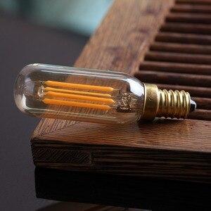 Image 5 - Ganriland アンバーガラス T25/T8 管状ランプ Led 電球 4 ワット 2200 18k レトロ LED フィラメント E12 E14 ライト電球調光対応装飾シャンデリア