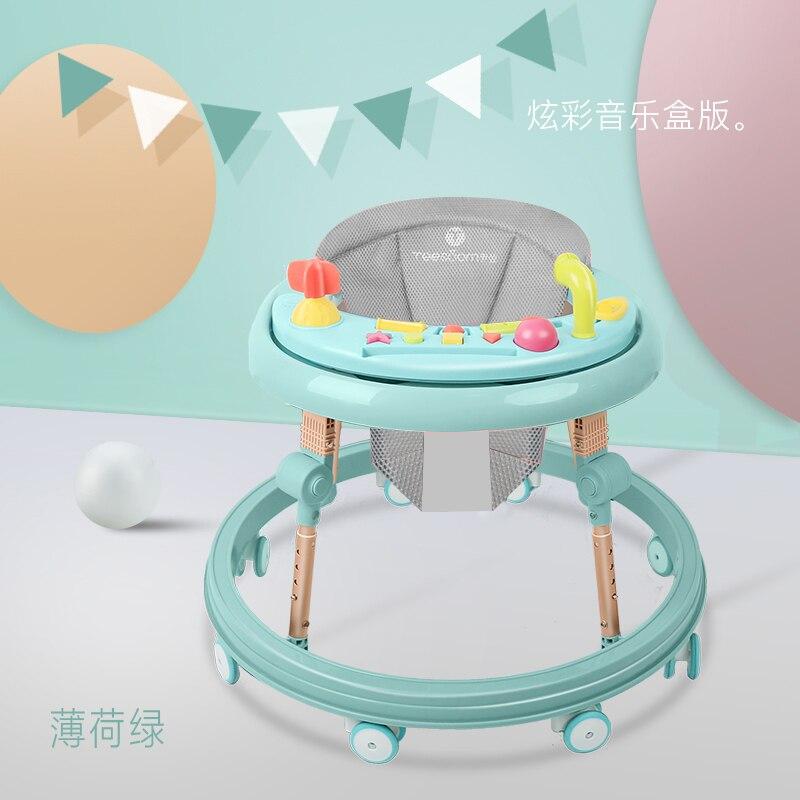 Baby Walker Car Pu Cushion Babywalker  7-18 Months Children Anti-rollover Car Multi-function Push Can Take Baby Wakler