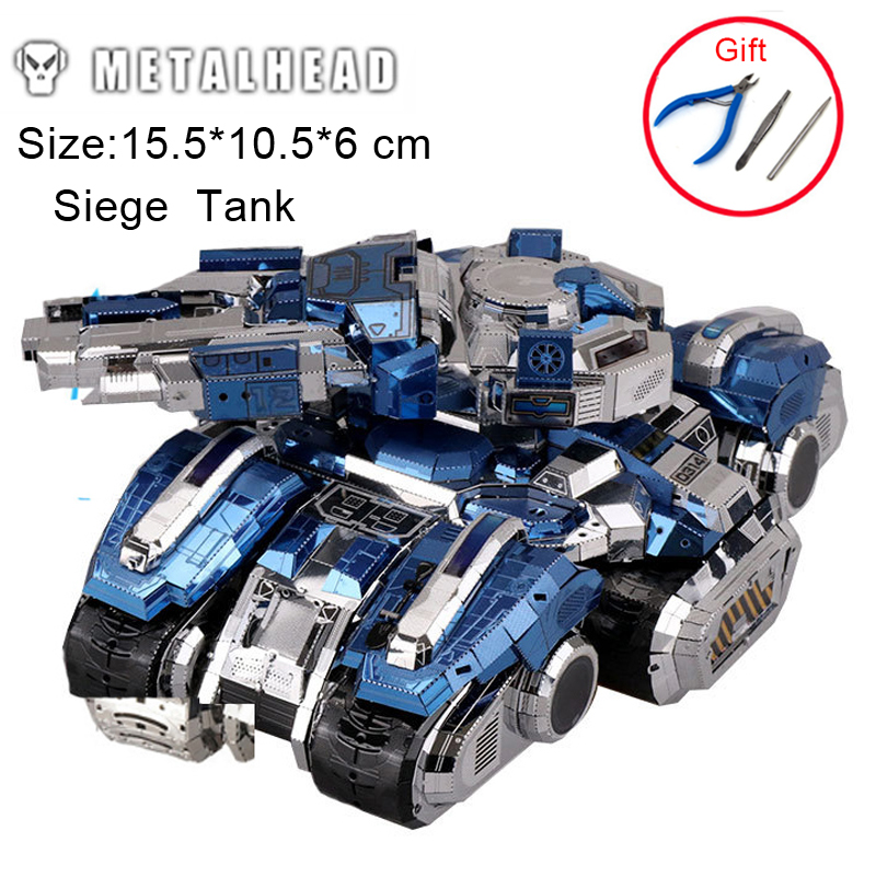 3D Metal Puzzles Siege Tank Adult Kids Boys Girls Manual Jigsaw Model Educational Toys Desktop Display Birthday Christmas Gifts colorful god of war returns 3d metal puzzles model for adult kids manual jigsaw educational toys desktop display collection gift
