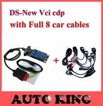 2017 ds cdp + tcs cdp plus 2015.1 oprogramowania z Pełnym 8 sztuk samochód narzędzie diagnostyczne obd obd2 kable do samochodów ciężarowych Darmowa wysyłka