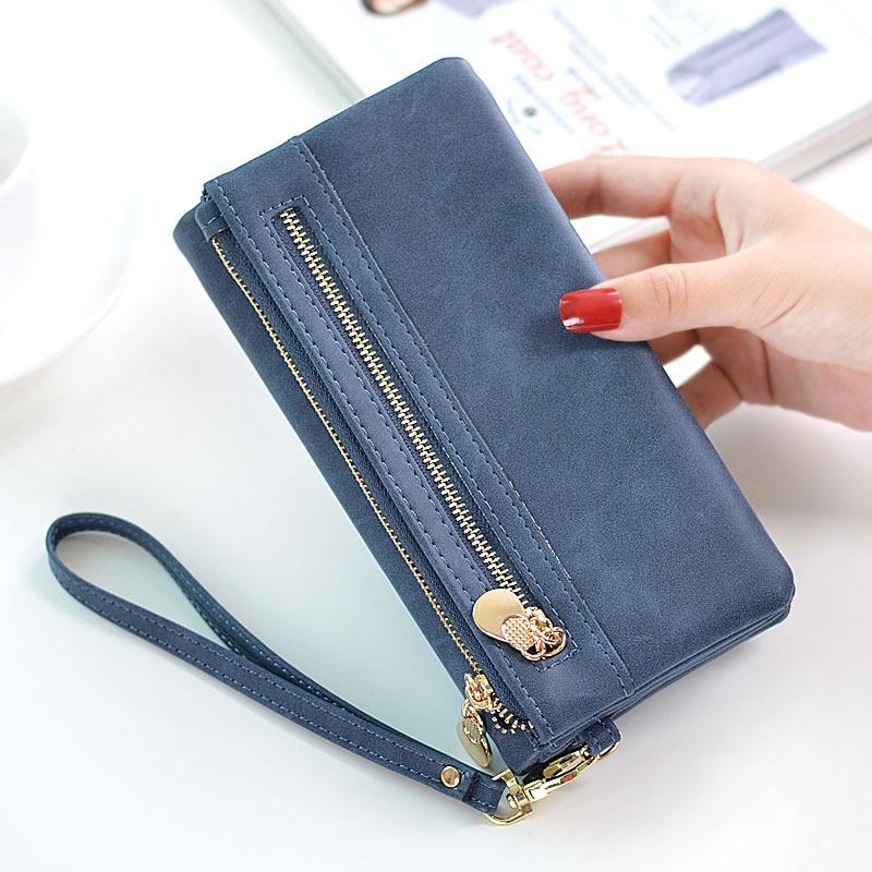 Bencool New Sale Fashion Women Long Zipper Wallets Concise Elegant High Quality Female Purse Design Madam