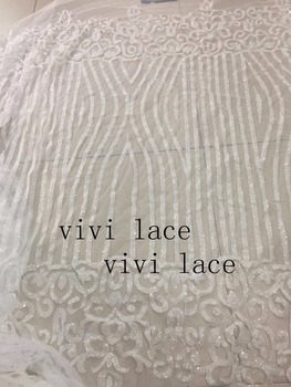 5yards/abg  A117#  crystal  clear Glitter  tulle mesh hand  print  lace fabric for sawing wedding bridal /evening dress
