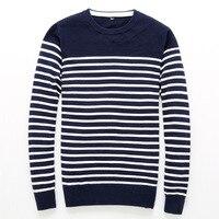 6beb3e5ba Homens Camisola De Malha. 2018 New Autumn Brand Mens Casual Sweater Fashion  O Neck Striped Slim Fit Knitting Men Sweaters