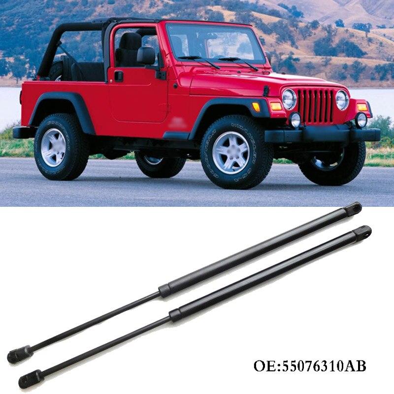 1 jeu de vérins à gaz de hayon arrière amortisseurs Supports de levage à ressort pour Jeep Wrangler 1997-2006