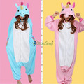 Azul Rosa Roxo Pegasus Unicorn Pijama Sleepwear animais Inverno unissex adultos partido robe de flanela Onesies dos desenhos animados pijamas