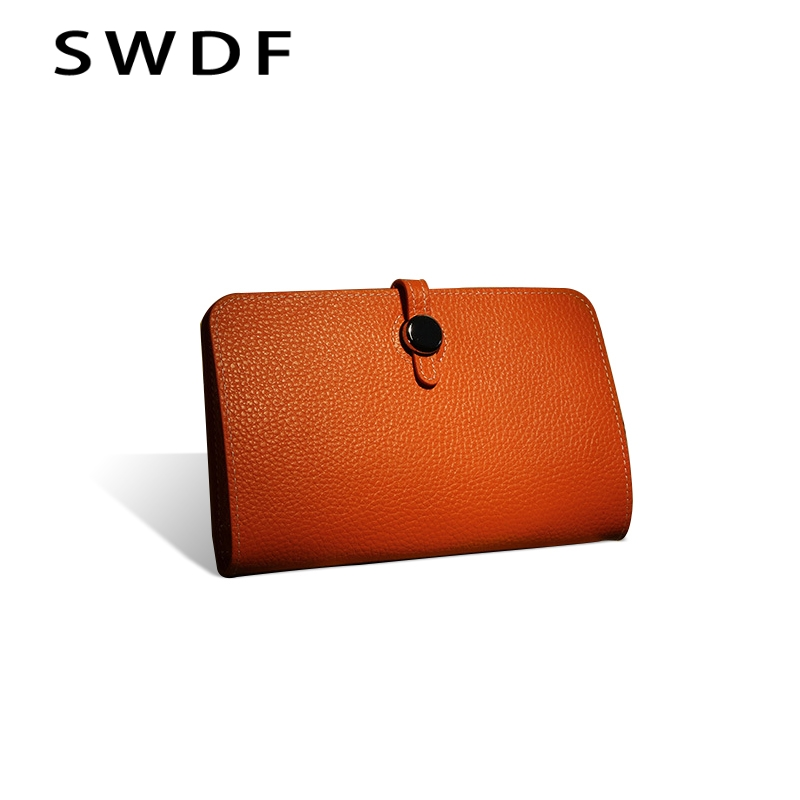 Luxury Genuine Leather Women Wallet 2019 Female Designer Wallets Famous Brand Women Wallet Ladies Leather Purse Money Bag Purses