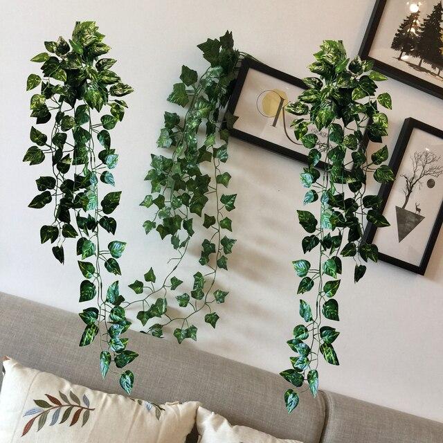 Home Decor Artificial Ivy Leaf Garland Plants Vine Fake Foliage