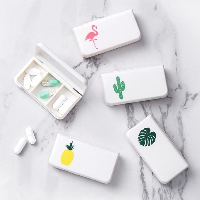 1 adet ve 5 adet Taşınabilir Mini Hap Durumda Ilaç Kutuları 3 Izgaralar Seyahat Ev Tıbbi İlaçlar Konteyner Ev Sahibi kılıfları saklama kutusu