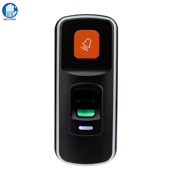 I90 Mini kontroler dostępu RFID samodzielny biometryczny linii papilarnych czytnik linii papilarnych obsługa kart SD do otwarty elektryczny zamek do drzwi tanie i dobre opinie Fingerprint Access Controller OBO RĘCE 1000 Fingerprint Card masz DC12V 0~45 degree 20~80 155*66*28mm