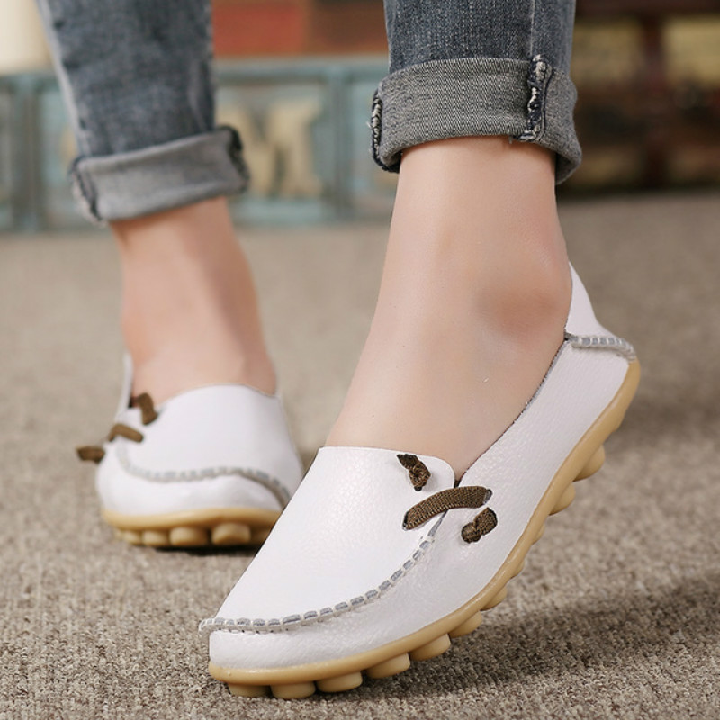Soft PU leather red flat shoes 2018 spring zapatos mujer women flats shoes casual superstar ladies home slip on shoes for women vintage women flats summer new soft canvas embroidery shoes casual slip on bow dance flat sandals for woman zapatos mujer