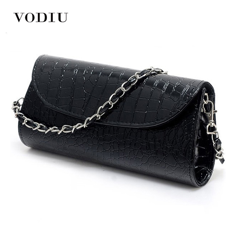 Lady Handbag Messenger-Bags Clutch Wristlet Women PU Fashion Stone-Pattern Rse Hot Casual