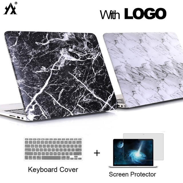 marble Laptop Case For Apple MacBook Air 13 11 Pro Retina 12 13 15 Touch Bar for macbook Air 13 case A1932 2018 + Keyboard Cover
