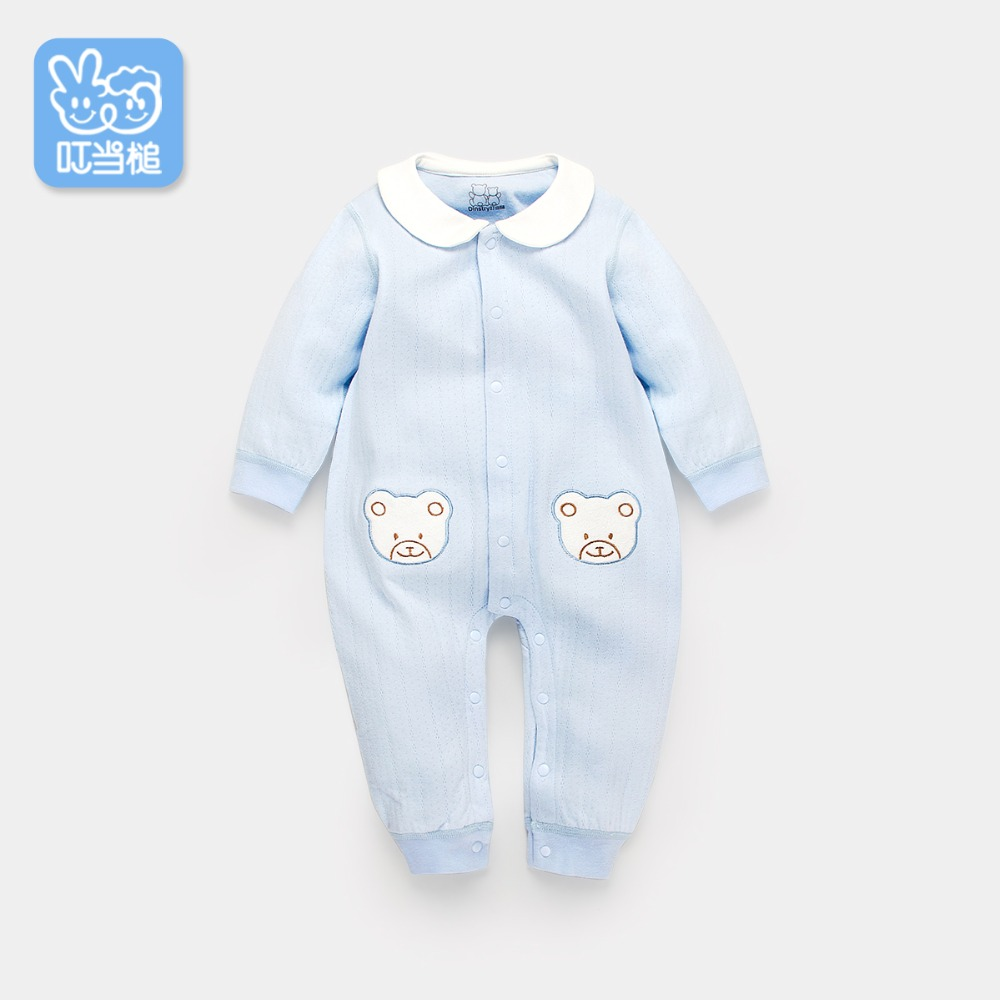Baby onesies spring and autumn cotton warm long-sleeved romper winter male baby  clothes newborn children's clothes