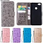 For Funda Xiaomi Redmi Note 5A case Embossed PU Leather Flip Wallet phone cover Redmi 5 5A case Coque Redmi Note 4 4X 4A case
