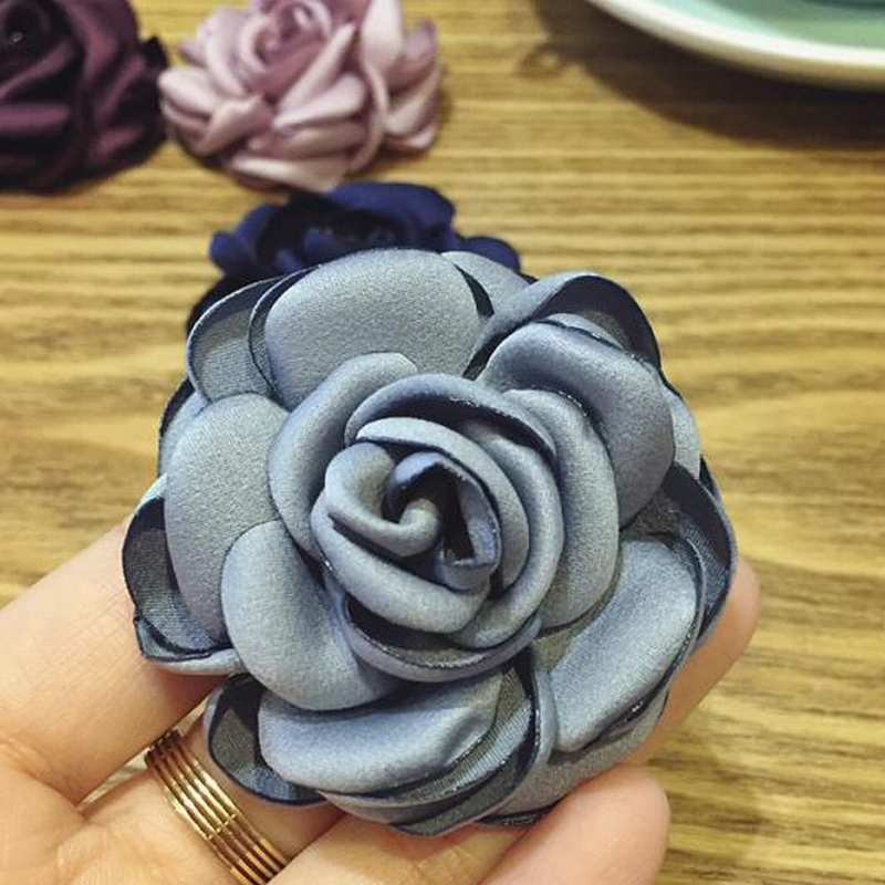 Korean Retro Fabric Cloth Art Saturna Flowers Brooch for Women Men Vintage Fashion Suit Coat Corsage Jewelry Accessories
