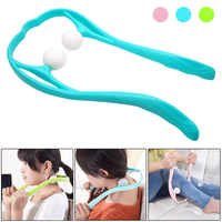 New Hot 3 colors Plastic Pressure Point Therapy Neck Massager Shoulder Dual Trigger Massage DC88
