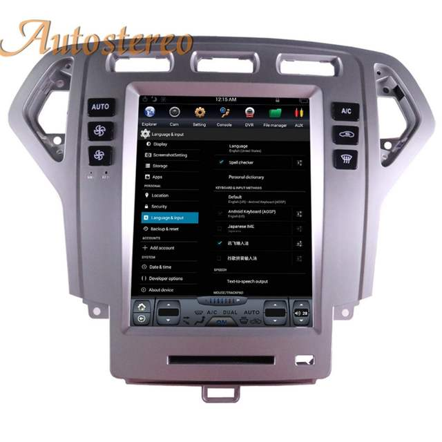 Big Screen Android Tesla style Car DVD Player GPS Navigation For Ford  Fusion Mondeo 2007 2008 2009 10 stereo headunit multimedia