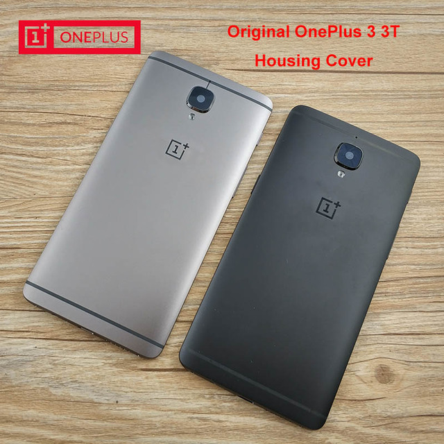 reputable site 548cd 50edd Original ONEPLUS 3 3T Rear Battery Cover,Aluminum Replacement Back Door  Housing Case,With Side Buttons/Card Slot. Black DarkGrey