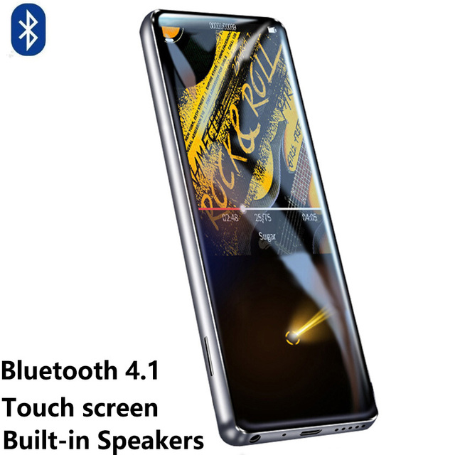 מהדי M600 HiFi Bluetooth MP3 מוסיקה נגן HD מגע מסך וידאו נגן נייד Slim עם מובנה רמקול FM רדיו APE flac