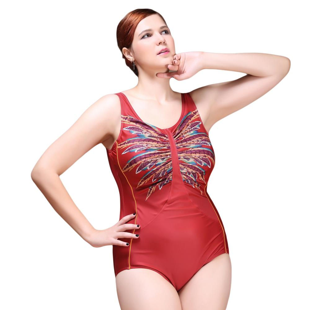 New Sexy One Piece Swimsuit 2016 Vintage Plus Size Swimwear Women Look Slim Print Beach Bodysuit Scoop Back Halter Bathing Suit sexy one piece swimsuit 2016 vintage plus size swimwear women pad ruffle beach bodysuit elegant scoop back halter bathing suit