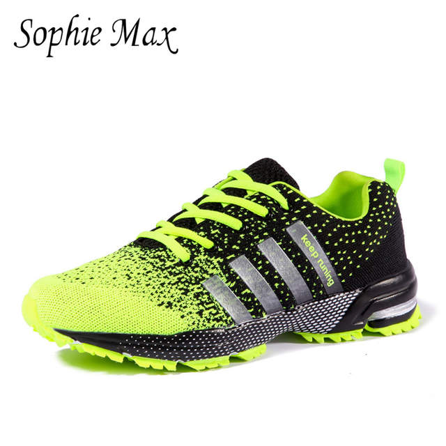 buy popular 85d9e 650bd US $21.0 |Sophie Max Autumn Air Cushion Running Shoes For Men Keep Running  Mesh Breathable Marathon Sports Tn Sneakers 2015015-in Running Shoes from  ...