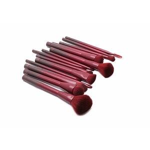 Image 4 - Jessup brushes 15pcs Winered Makeup Brushes Set Powder Foundation Eyeshadow Eyeliner Lip Contour Concealer Smudge Make up Brush