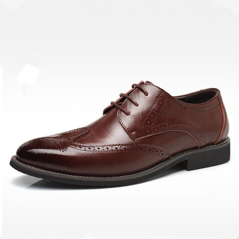 Fashion big size 47 48 shoes men New Bullock shoe Black, brown Dress business casual shoes Mens Oxford shoes chaussure