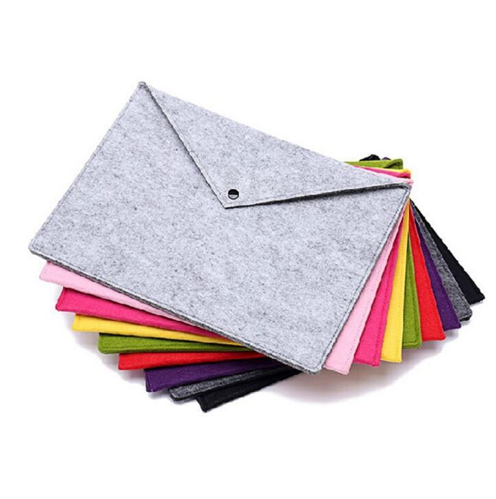 1PC Simple Solid A4 Big Capacity Document Bag Business Briefcase File Folders Phone Bag Student Gifts