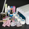 Pro 36W UV Dryer Lamp Glitter Powder French Nail Art Tips Gel Tools DIY Set #59