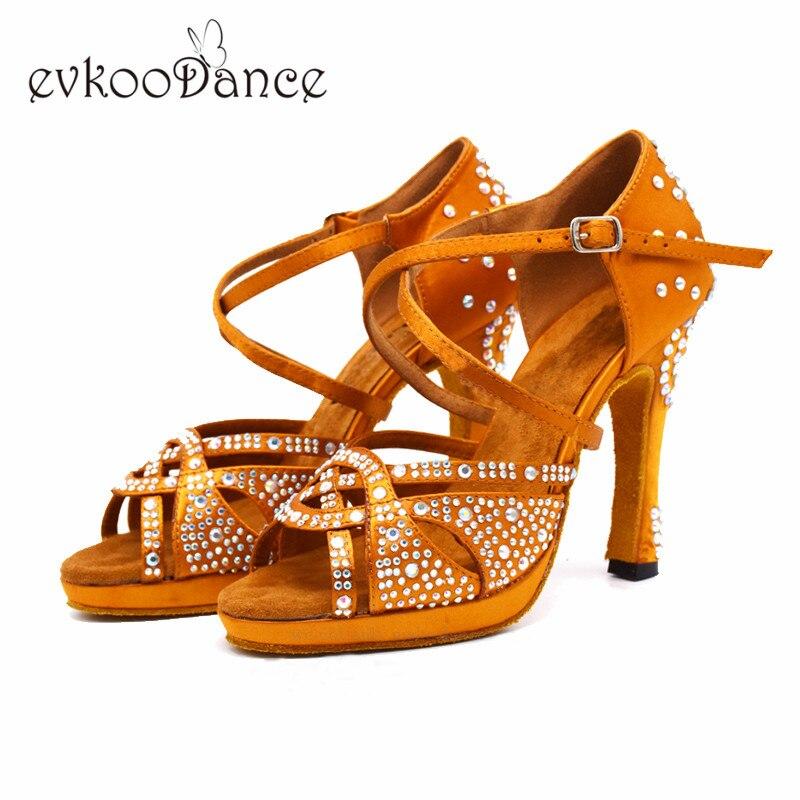 Dance-Latin-Shoes-High-Heels-with-Platform-Bronze-Latin-Dance-Shoes-Full-Rhinestone-12cm-Square-Dance (2)