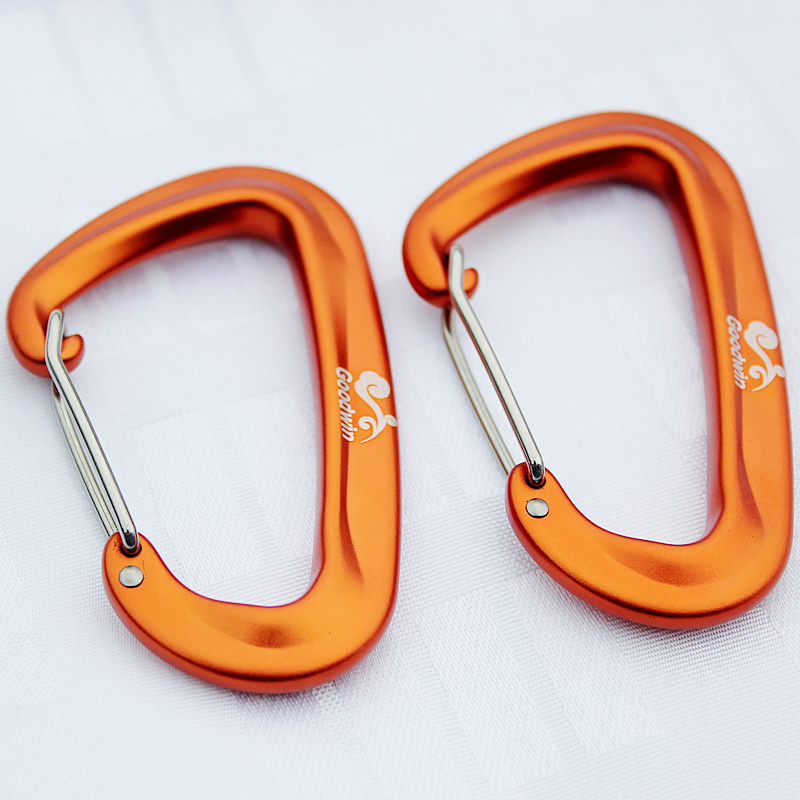 2018 New 1 Pcs Aluminum Alloy D Shape Climbing Carabiner Screw Lock Bottle Hook Buckle Hanging Padlock Keychain Camping Hiking ryder anodizing aluminum alloy screw lock carabiner blue 8mm