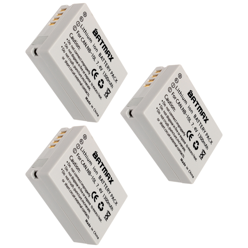 3 PCS / lot High- Capacity LI-ION battery NB-10L NB 10L NB10L Rechargeable camera Battery for Canon PowerShot SX40 HS SX40 z2 ismart replacement nb 5l 3 7v 1200mah battery for canon powershot sx230hs sx210is more page 1
