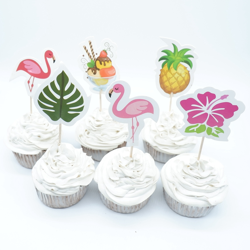 720pcs Flamingo Cupcake Toppers Birthday Party Decor Kids ...