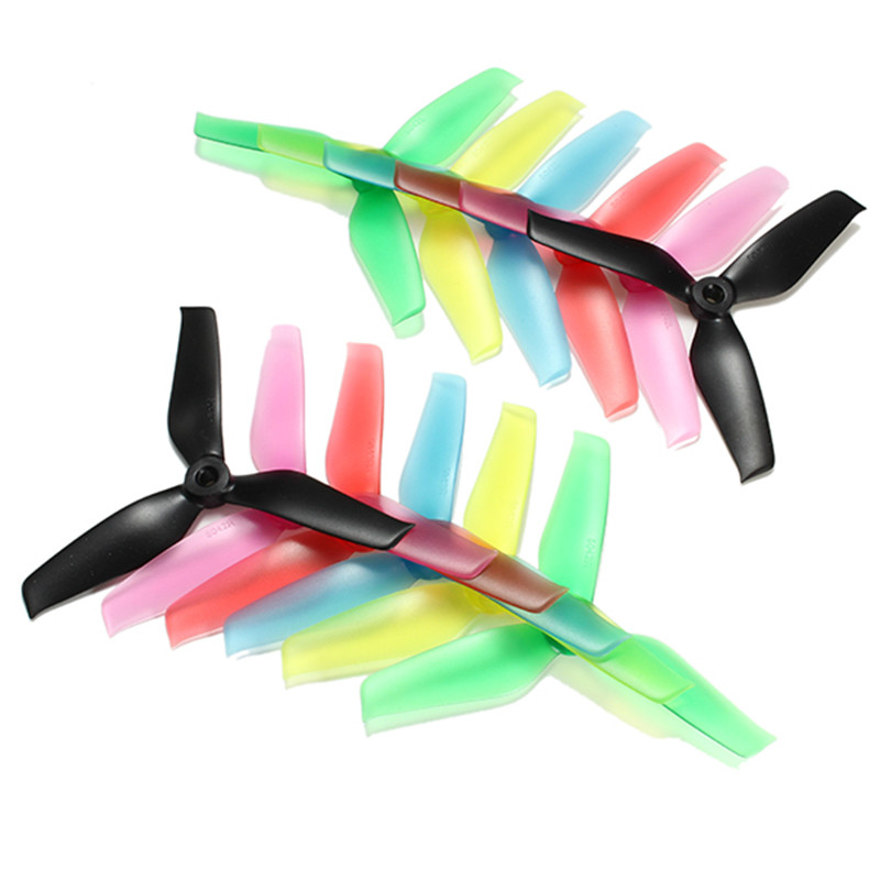 цена на Hot New 10 Pairs Racerstar 5042 5x4.2x3 3 Blade Propeller 5.0mm Mounting Hole For FPV Racing Frame