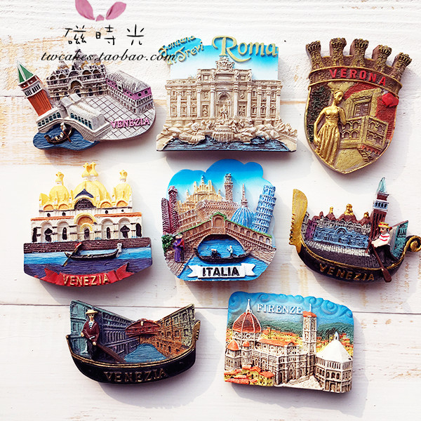 Europäischen Venedig Rom Italien Tourismus Landschaft Kühlschrank Magnet 3D Kühlschrank Magnet Aufkleber Reise Souvenir Küche Home Dekoration