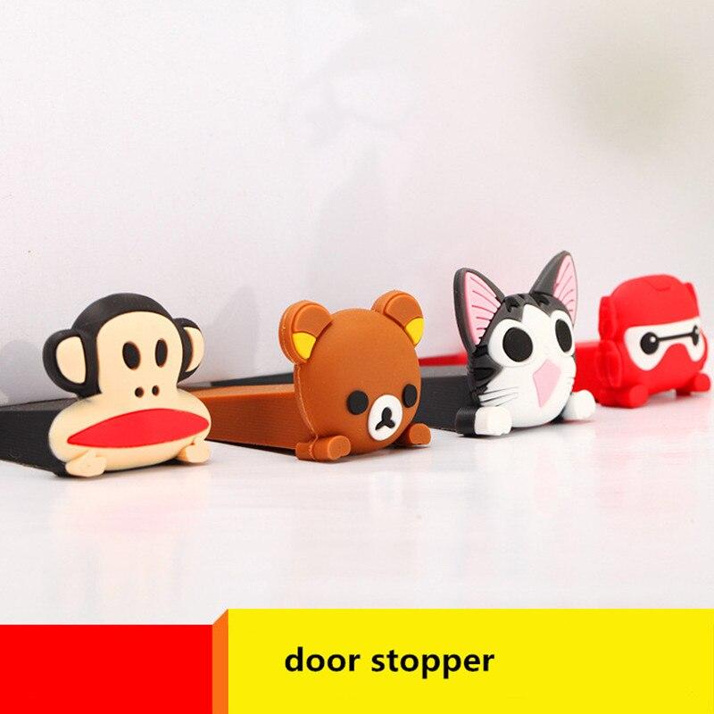 Cute Cartoon Bumper Door Stopper Children Safety Plug Protector Silicone Door  Stop Holder Tope Puerta In Door Stops From Home Improvement On  Aliexpress.com ...