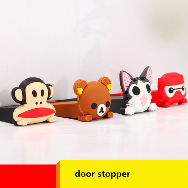 Cute Cartoon Door Stopper Safety Door Bumper Stoppers Children Safety Plug Protector Silicone Door Stops Holder & Cute Cartoon Door Stopper Safety Door Bumper Stoppers Children ...