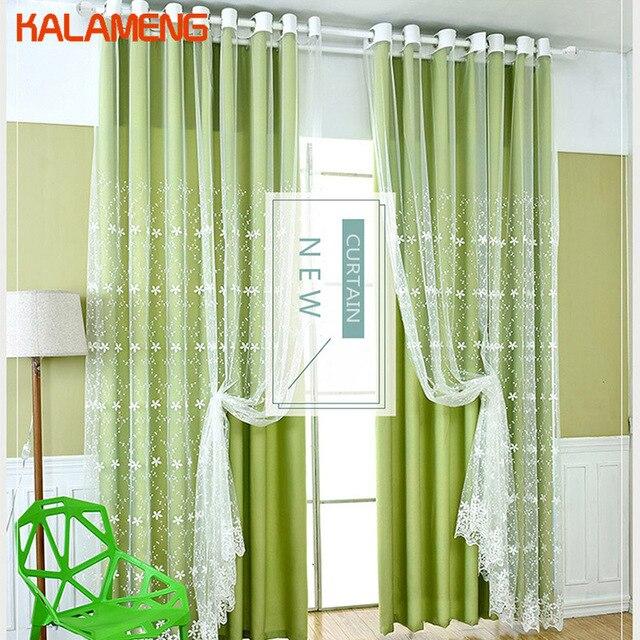 Green Purple Blue Window Curtain Livingroom Curtains Custom Made Bed ...