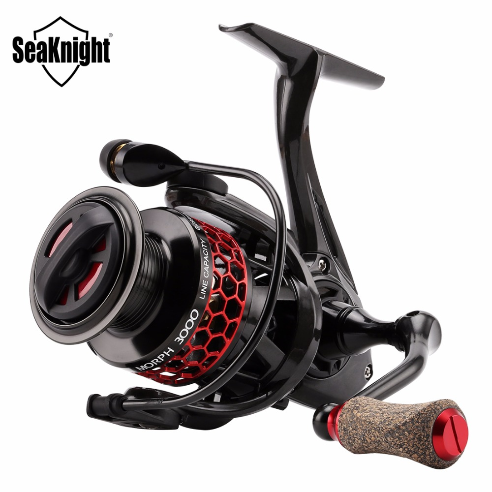 SeaKnight MORPH Spinning Reel 5 2 1 8 10KG Drag Power Fishing Reel C60 Carbon Fiber