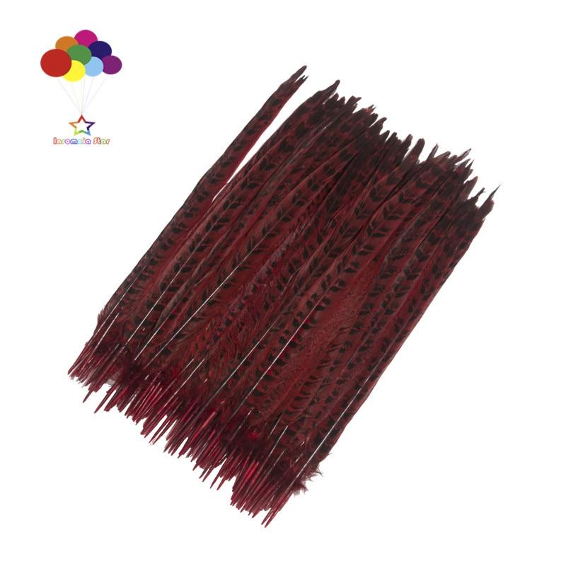 Z & Q & Y naturel 100 queue de poule plume 30-35 CM/12-14 pouces teint rouge bijoux à bricoler soi-même coiffure performance décoration vêtements plume