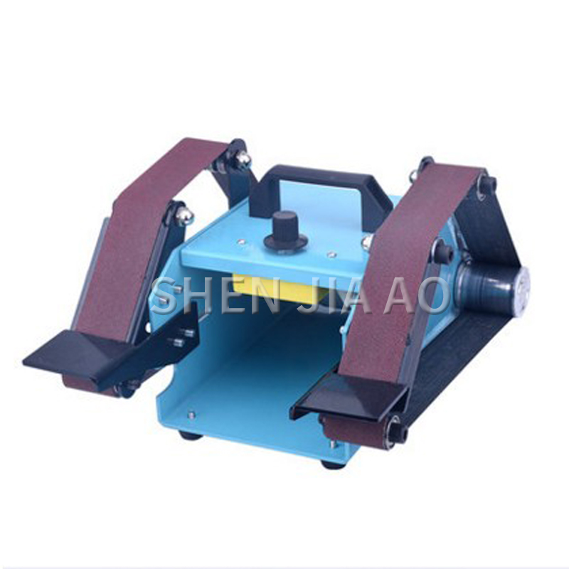 1PC Double head Small Desktop Double axis Belt Machine 220V Micro Double Sanding Machine Home Polishing